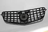 Черная решетка радиатора Mercedes W212 09-13 GT, фото 7