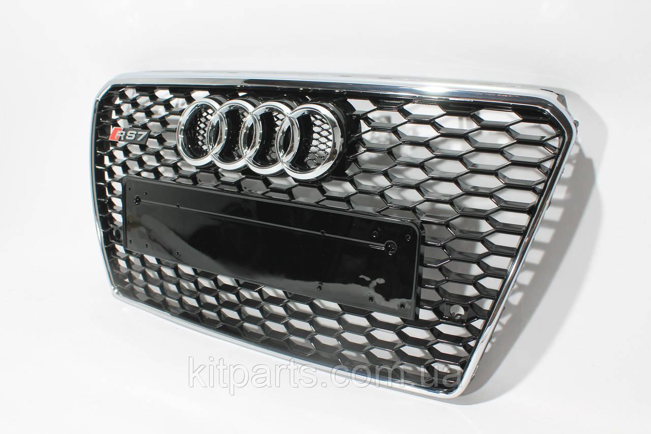 Решітка радіатора Audi A7 стиль RS7 12-15
