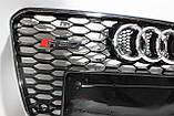 Решітка радіатора Audi A7 стиль RS7 12-15, фото 5