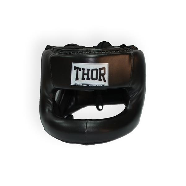 Шлем для бокса кожзам XL THOR NOSE PROTECTION 707 PU / черный для дома и спортзала