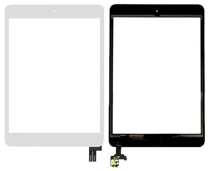 Сенсор для планшета (тачскрін) Apple iPad mini 5 (A2124, A2126, A2133, повний комплект з кнопкою Home) White