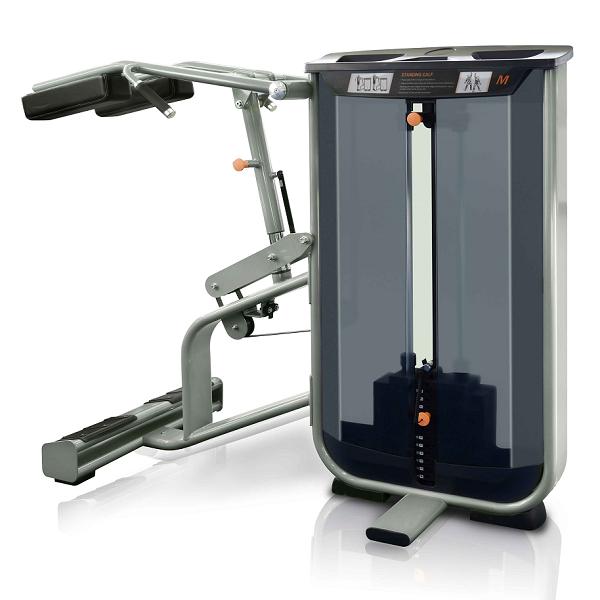Голень стоя PowerStream Virgin профессиональный тренажер для дома и спортзала грузовой стек 91 кг.