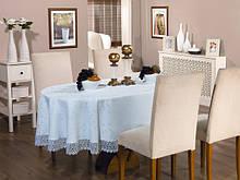 Праздничная скатерть на большой стол