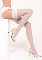 Панчохи жіночі з красивим мереживом Legs La Perla 40 den, білі