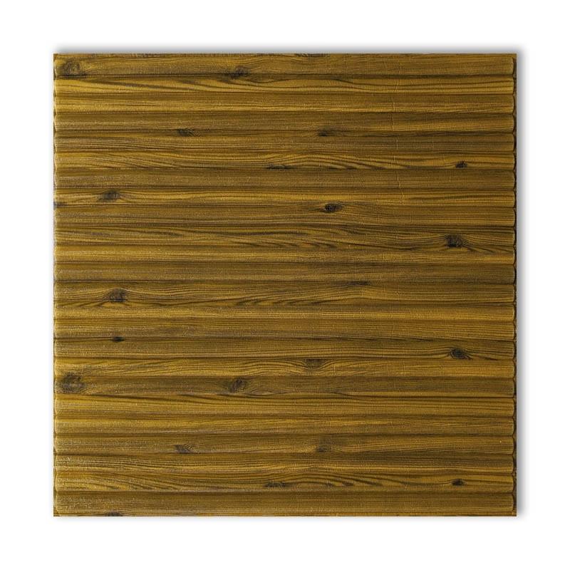 Самоклеющиеся обои под Бамбук Дерево (самоклеющиеся пластиковые 3d панели под доски деревянный) 700x700x8.5 мм