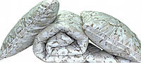 "Одеяло лебяжий пух ""Цветы"" евро плюс 2 подушки 70х70"