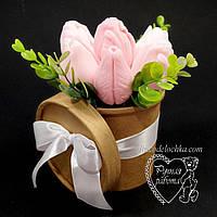 Букет из мыла в крафтовом стакане, мыльный букет, набор мыла женского, подарок 8 марта, фото 1