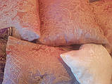 Комплект подушок коралові з бежевою коронкою, 7шт, фото 2