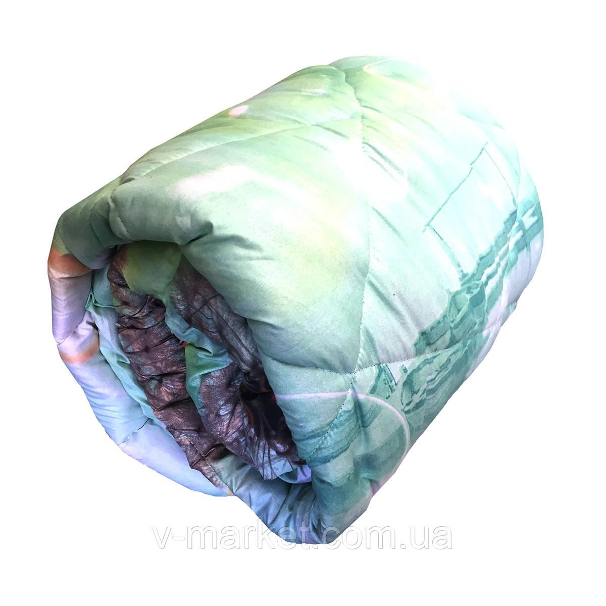Одеяло ватное двуспальное 180/210 см, ткань бязь