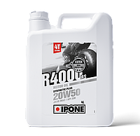 Моторное масло IPONE R4000 RS 20W50 (4л) для мотоциклов. JASO MA-2, API SM, фото 1