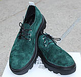 Туфли женские из натуральной замши от производителя модель ОУ9010-2, фото 2