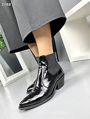 Женские кожаные Ботинки KOZAKI