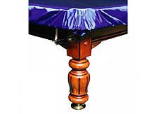 """Чехол для бильярдного стола """"12 футов"""" с резинкой на лузах влагостойкий синего цвета"""