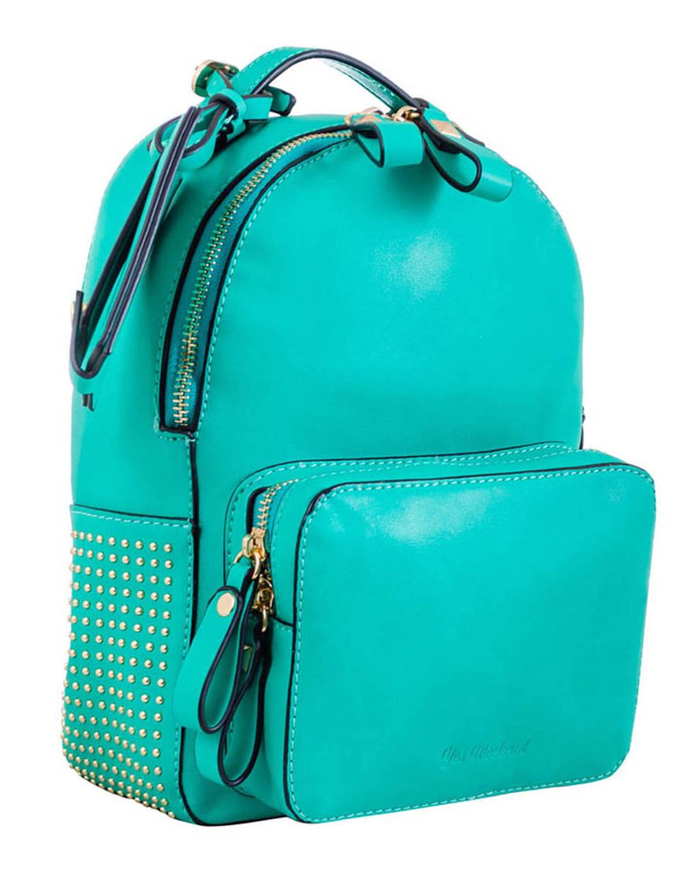 Сумка-рюкзак YES, мята, 26*18*9