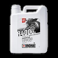 Моторное масло IPONE R4000 RS 10W30 (4л) для мотоциклов. JASO MA-2, API SM
