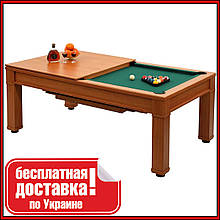 Бильярдный стол для пула с крышкой и лавкой Remo 7 футов 214.5 x 121.5 x 82 cm из МДФ