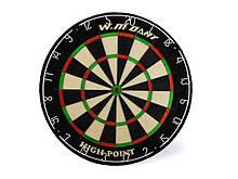 Дартс профессиональный, спортивный 46 х 3.8 см WinMax MATCH PLAY G504, Мишени для дартс из сизаля