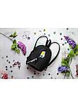 Модный женский черный маленький городской, повседневный рюкзак матовая эко-кожа, фото 2