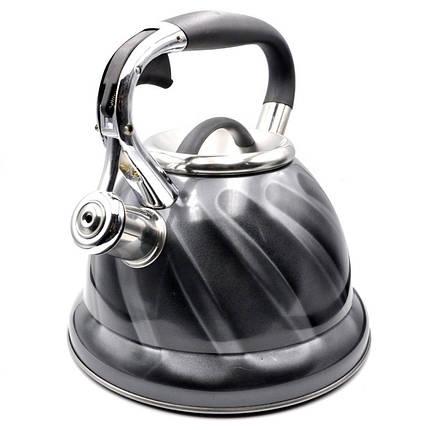 Чайник из нержавеющей стали со свистком на 3,2 литра VICALINA VL-0034, фото 2