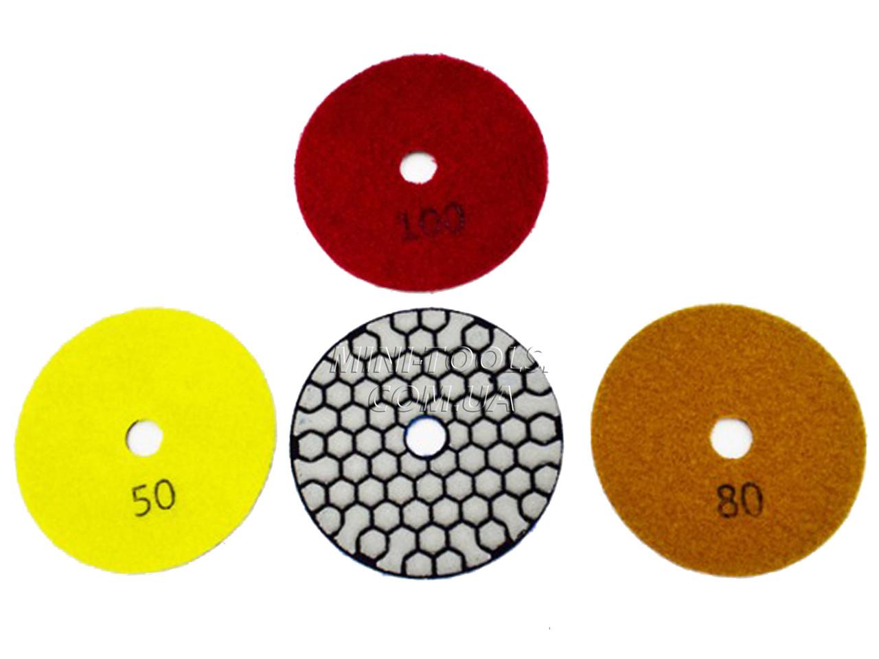 Черепашка D-100мм. зерно #100. (Сухая полировка) Алмазный гибкий шлифовальный круг