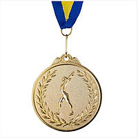 Медаль наградная, d=65 мм гимнастика золото