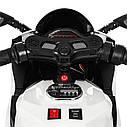 Детский электромобиль Мотоцикл M 4104 EL-1, EVA колеса, LED подсветка, белый, фото 7