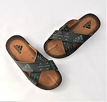 Мужские Шлёпанцы Тапочки ADIDAS Сланцы Черные Адидас (размеры: 40,41,42,43,44,45), фото 3