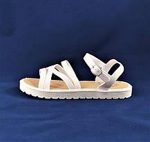 Женские Сандалии Босоножки Белые Летние Римлянки (размеры: 36,37,38,39,40,41), фото 2