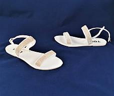 Женские Сандалии Босоножки Белые Летние (размеры: 36,37,38,39,40,41), фото 3