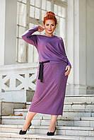 Женское батальное платье-миди