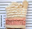 Детские одинарные перчатки для девочки - длина 14 см, фото 4