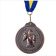 Медаль наградная d=65 мм бокс бронза 354-3