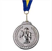 Медаль наградная d=65 мм бокс серебро  354-2