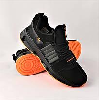 Кроссовки Мужские Adidas Черные Адидас (размеры: 41,42,43,44,45) Видео Обзор, фото 2