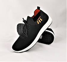 Кроссовки в Стиле Adidas Чёрные Сеточка Мужские Адидас (размеры: 41,42,43,44,45), фото 3