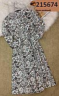Модное женское платье в цветочный красивый принт