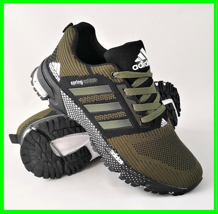 Кроссовки Adidas Spring Хаки Мужские Адидас (размеры: 41,42,43,44,45,46) Видео Обзор