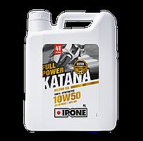 Моторное масло IPONE Full Power Katana 10W50 (4л) для мотоциклов. JASO MA-2, APISN