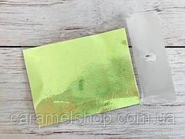 """3D голографические наклейки для ногтей """"лист"""" лимон"""