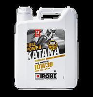 Моторное масло IPONE Full Power Katana 10W30 (4л) для мотоциклов. JASO MA-2, API SN