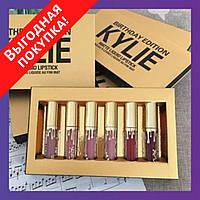 Набор жидких матовых помад Кайли Дженнер Kylie Jenner 6 оттенков / Помада матовая для макияжа