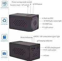 Железная 1080P Wifi мини-камера для безопасности микро камера WiFi ночное видение беспроводная 12 часов работы