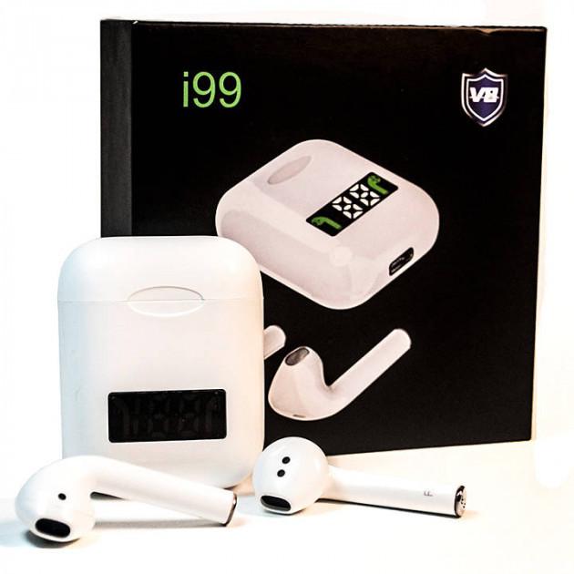 Беспроводные Bluetooth стерео наушники i99 TWS V5:0 с дисплеем