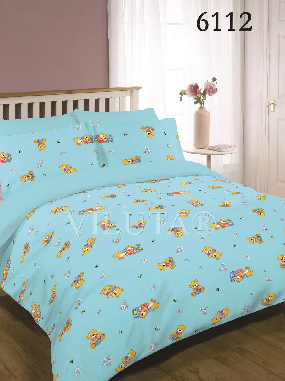 Постельное белье в детскую кроватку Viluta. Ранфорс 6112