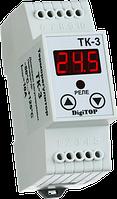 Регулятор температуры ТК-3  (одноканальный, датчик DS18B20)  DIN