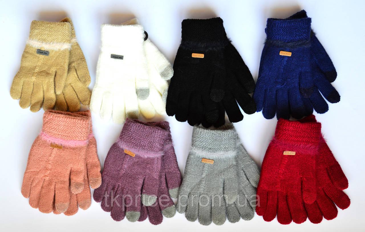 Детские одинарные перчатки с сенсорными пальчиками - длина 15 см
