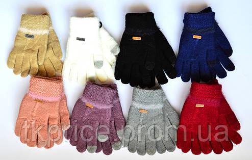 Детские одинарные перчатки с сенсорными пальчиками - длина 15 см, фото 2
