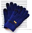 Детские одинарные перчатки с сенсорными пальчиками - длина 15 см, фото 3