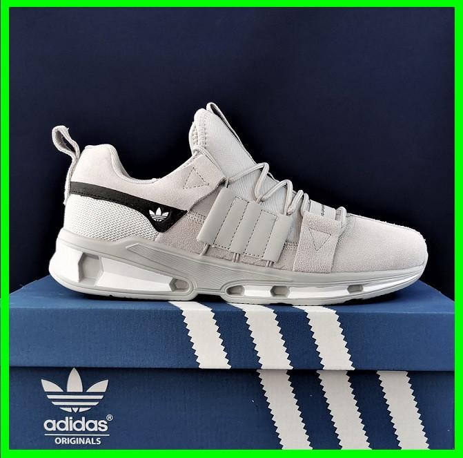 Кроссовки Мужские Adidas Серые Адидас (размеры: 41,42,43,44,45) Видео Обзор