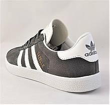 Кроссовки Adidas Gazelle Серые Мужские Адидас (размеры: 41,42,43,44,45) Видео Обзор, фото 3